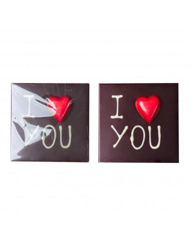 """Dark Chocolate Bar """"I Love You"""""""