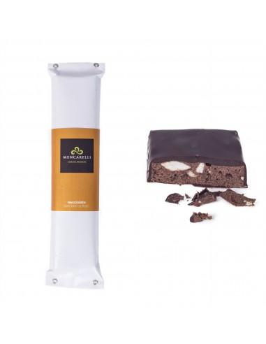 Hazelnut chocolate nougat with blown...