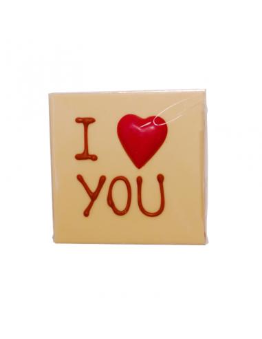 """Tavoletta Cioccolato Bianco """"I Love You"""""""