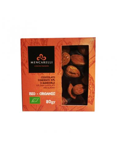 Organic 70% Dark chocolate and almonds