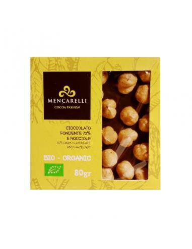 Organic 70% Dark Chocolate and Hazelnut