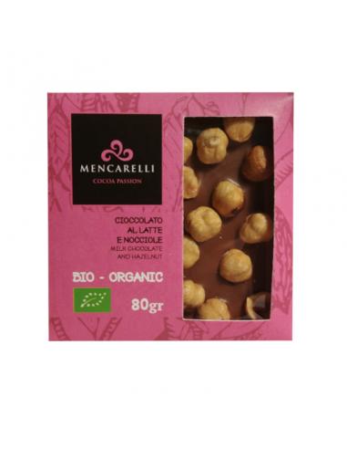 Organic Milk Chocolate bar and Hazelnuts