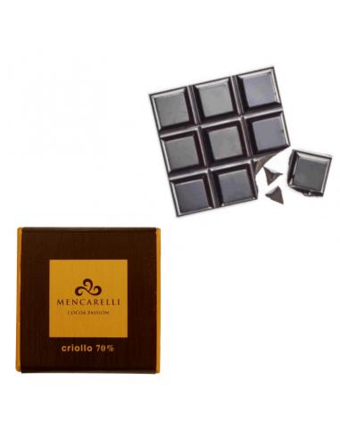 Cioccolato fondente al 70% cacao criollo con tavoletta a vista