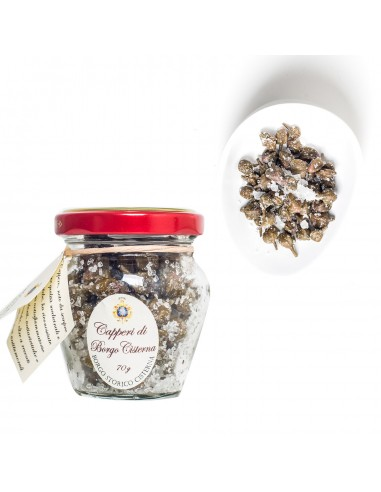 Borgocisterna Capers in Salt, 210 g
