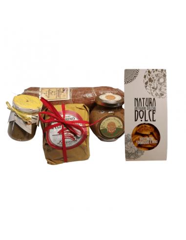 Mix di prodotti  che raccontano le specialità distribuite nel territorio delle Marche