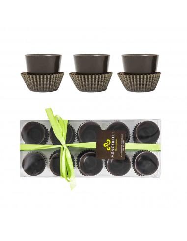 10 Bicchierini di Cioccolato Fondente