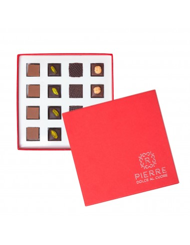 Red Gift Box with 16 Pralines